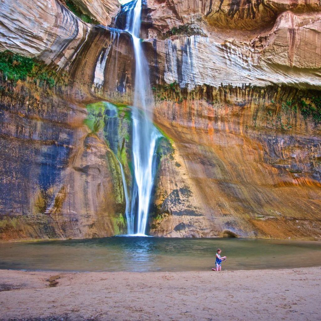 At Lower Calf Creek Falls in Grand Staircase Escalante NMhellip