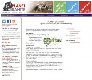 Planet Granite Grant!