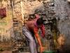 Man getting water in Kolkata